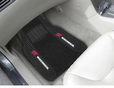 Wisconsin Badgers 2-Piece Deluxe Car Mats