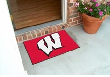 "Wisconsin Badgers 20""x30"" ""W"" Starter Floor Mat"