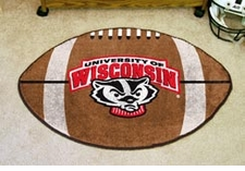 "Wisconsin Badgers 22""x35"" Bucky Football Floor Mat"