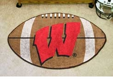 "Wisconsin Badgers 22""x35"" ""W"" Football Floor Mat"