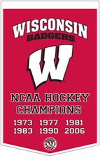 Wisconsin Badgers 24 x 36 Hockey Dynasty Wool Banner