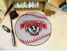 "Wisconsin Badgers 27"" Baseball Floor Mat"