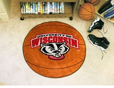 "Wisconsin Badgers 27"" Basketball Floor Mat"