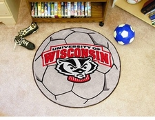 "Wisconsin Badgers 27"" Soccer Ball Floor Mat"