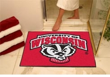 "Wisconsin Badgers 34""x45"" Bucky All-Star Floor Mat"