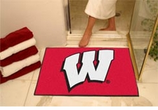 "Wisconsin Badgers 34""x45"" ""W"" All-Star Floor Mat"