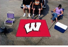 "Wisconsin Badgers 5'x6' ""W"" Tailgater Floor Mat"