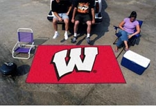 "Wisconsin Badgers 5'x8' ""W"" Ulti-mat Floor Mat"