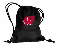 Wisconsin Badgers Black String Pack / Backpack