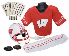 Wisconsin Badgers Deluxe Youth / Kids Football Helmet Uniform Set