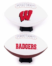 Wisconsin Badgers Full Size Signature Embroidered Football