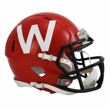 Wisconsin Badgers Red w/ Black Mask Riddell Speed Mini Helmet