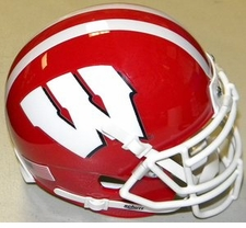 Wisconsin Badgers Red Schutt XP Authentic Mini Helmet