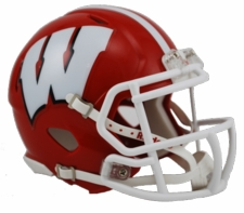 Wisconsin Badgers Red w/ White Mask Riddell Speed Mini Helmet