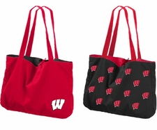 Wisconsin Badgers Reversible Tote Bag