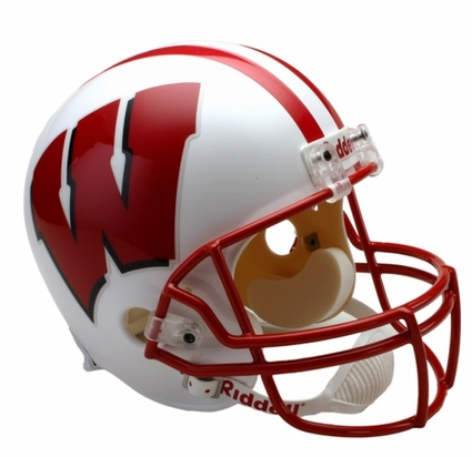 Wisconsin Badgers White Riddell Deluxe Replica Helmet