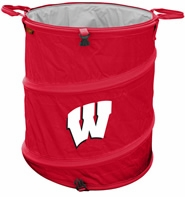 Wisconsin Badgers Tailgate Trash Can / Cooler / Laundry Hamper