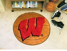 "Wisconsin Badgers ""W"" 27"" Basketball Floor Mat"