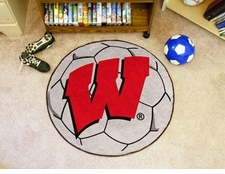 "Wisconsin Badgers ""W"" 27"" Soccer Ball Floor Mat"