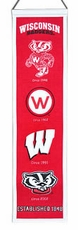 Wisconsin Badgers Wool 8x32 Heritage Banner