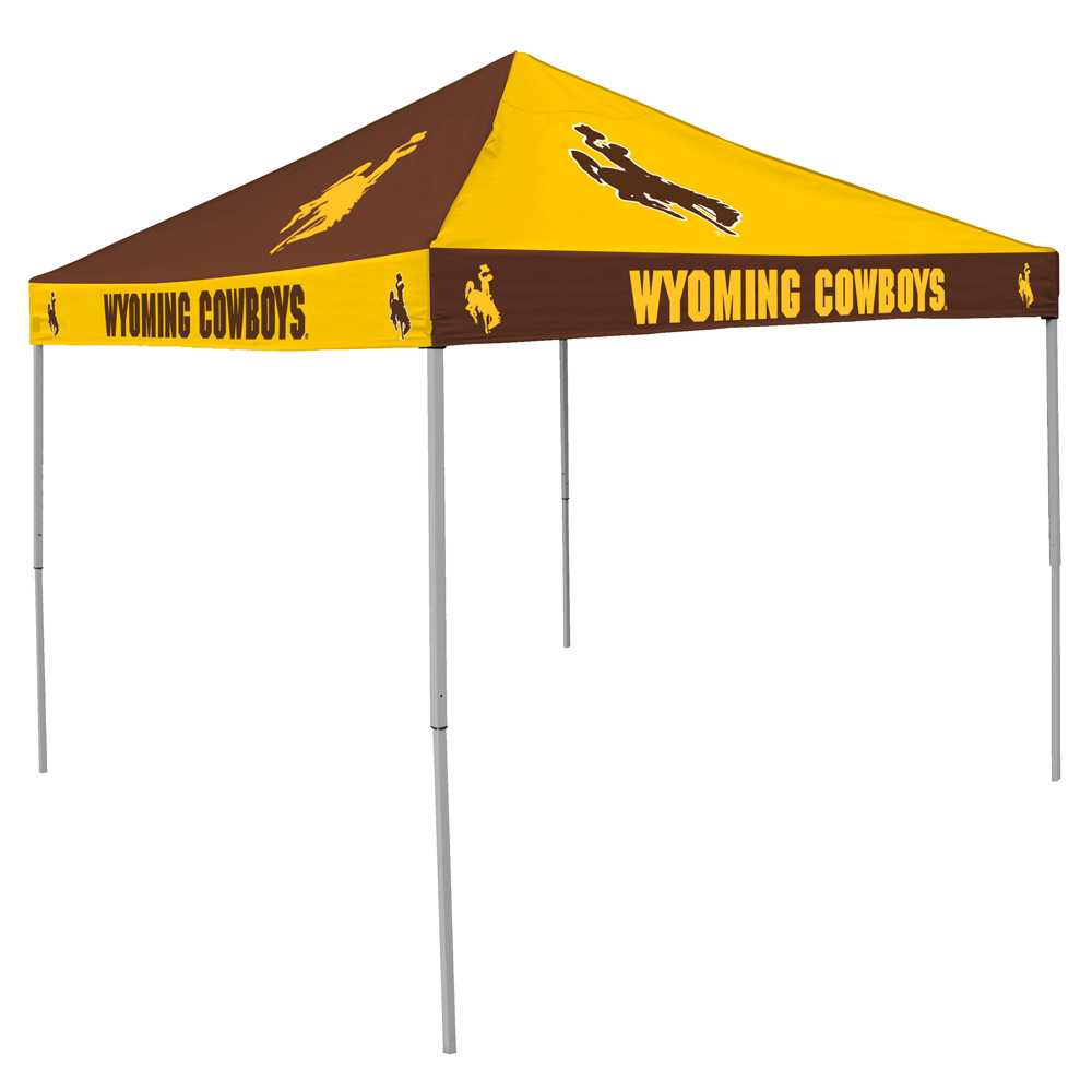 buy popular 29643 1ca86 Wyoming Cowboys Pinwheel Colored Logo Canopy Tailgate Tent