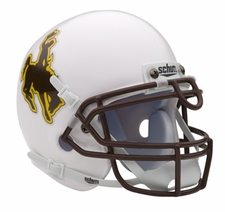 Wyoming Cowboys Schutt Authentic Mini Helmet