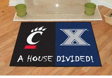 Xavier Musketeers - Cincinnati Bearcats House Divided Floor Mat