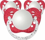3 Glitter Red Orthodontic Personalized Pacifiers