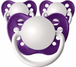 3 Grape Purple Orthodontic Personalized Pacifiers