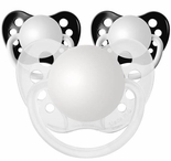 Black & Clear Orthodontic Silicone Personalized Pacifiers