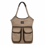 7 A.M. Enfant Barcelona Diaper Bag Beige