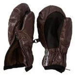 7 A.M. Enfant Zippered Mittens Marron Glace