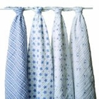 Aden + Anais Muslin Swaddle Wrap, 4 Pack Prince Charming