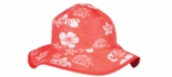Baby & Kidz UPF 50+ Reversible Bucket Hat Red and Beige Sea turtle Age 2-5 Years