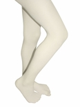 Mod & Tone Girl's Microfiber Opaque 2 Pair Tights Ivory