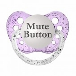 Glitter Purple  Orthodontic Expression Pacifiers Mute Button