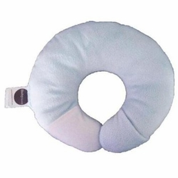 Babymoon Pillow Neck Support - Minky Baby Blue