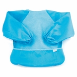 Bumkins Absorbent Fleece Sleeved Bib Blue