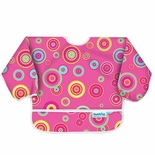 Bumkins Waterproof Sleeved Bib, Pink Supernova