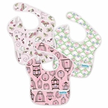 Bumkins Waterproof SuperBib 3 Pack, Girl Colors