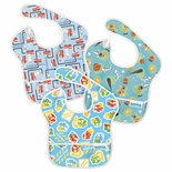 Bumkins Waterproof SuperBib 3 Pack, Boy Colors