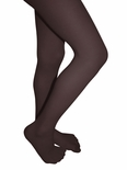 Clips N Grips Microfiber Girls Colored Tights Chocolate