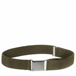 Childrens Elastic Adjustable Stretch Belt With Buckle Olive