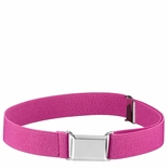 Childrens Elastic Adjustable Stretch Belt With Buckle  Hot Pink (Fuschia)