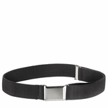 Childrens Elastic Adjustable Stretch Belt With Buckle Black