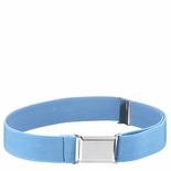 Childrens Elastic Adjustable Stretch Belt With Buckle Light Blue