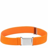 Childrens Elastic Adjustable Stretch Belt With Buckle Orange