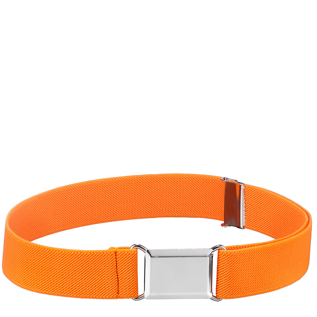 ed7cda1983c KneesNToes.net - Childrens Elastic Adjustable Stretch Belt With Buckle  Orange