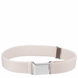 Childrens Elastic Adjustable Stretch Belt With Buckle Ivory