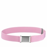 Childrens Elastic Adjustable Stretch Belt With Buckle Light Pink